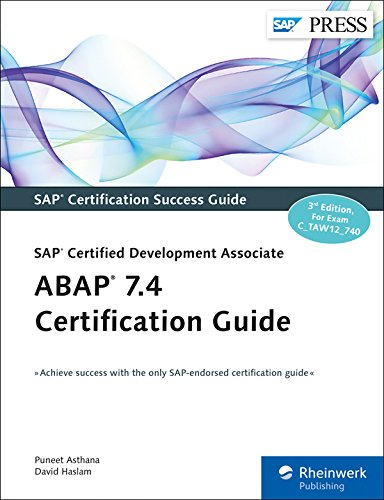 Abap 7 4 Certification Guide  Sap Press