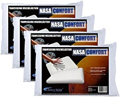 Kit 4 Travesseiros Nasa Confort Antialérgico 100% Viscoelástico