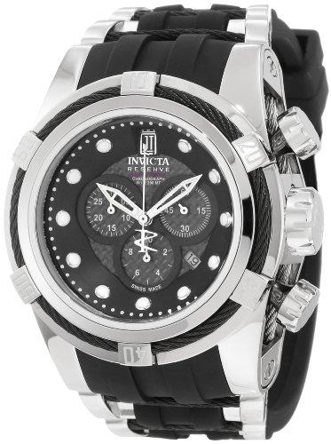 Jason Taylor for Invicta Collection 12954 BOLT Zeus Chronograph Grey Carbon Fiber Dial Black Polyurethane Watch