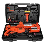 MOTORMAN TOOLS 12V DC 5.0T(11000 lbs) Electric Scissor Jack and Electric Impact Wrench 2-in-1 Car Repair Tool Kit