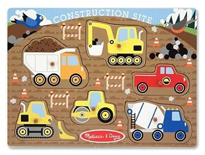 Melissa And Doug 3388 Construction Site Peg Puzzle, 6-Pieces