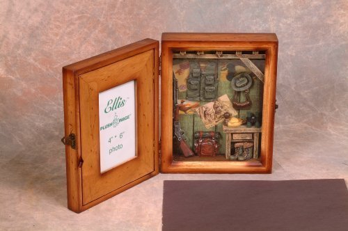 Gifts Collectibles Great Decor Home - Hunting Shadow Box Picture Photo Frame- Great Gift for Home Decor, wall Decor art, or Table-Top decor.