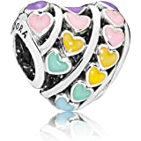 Pandora 797019ENMX Silver Charm for Women - Multi Color
