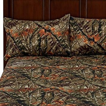 - Camouflage, King,Soft Microfiber Polyester Bedding 4-Piece Sheet Set, Easy Care Wrinkle Resistant