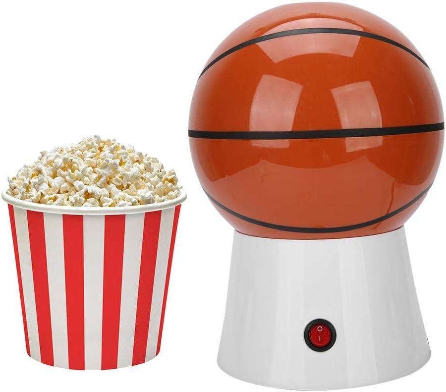 Máquina de palomitas de maíz, 1200 W Práctico hogar Mini forma linda Mini máquina de hacer palomitas de maíz eléctrica Máquina de palomitas de maíz para uso doméstico en la cocina(Tipo de voleibol) Tipo de Baloncesto