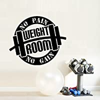 """No PAIN No GAIN ~ GYM~: Wall or Window Decal 20"""" x 17"""""""