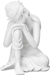 Deeing House Sto Resin Buddha Ornaments Sitting Buddha Statue Sleeping Buddha for Sculpture Home Garden Office Desk