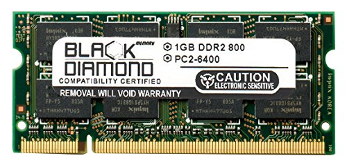 Pc Touchsmart Iq526 (1GB RAM Memory for HP TouchSmart IQ526 200pin PC2-6400 DDR2 SO-DIMM 800MHz Black Diamond Memory Module Upgrade)