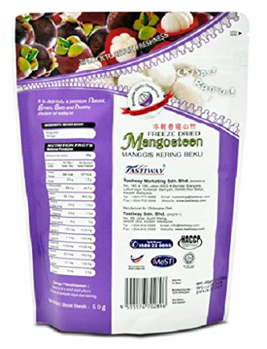 MUST BUY ! 20 Pack DXN Alor Freeze Dried MANGOSTEEN Preserved With Original Characteristics ( 50 Per Pack ) by DXN