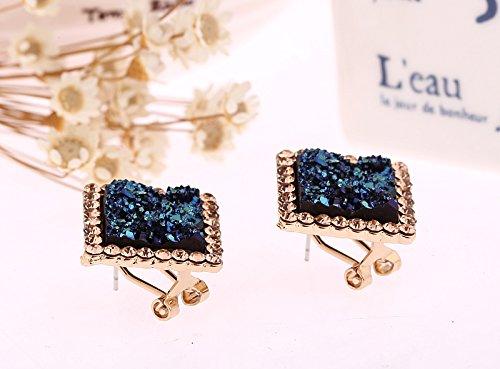 Unique Creative Fashion Luxury Blue Diamond Earrings earings Dangler Eardrop Jewelry Box Earring Women Girls Hypoallergenic Trend by KGELE Earrings (Image #2)