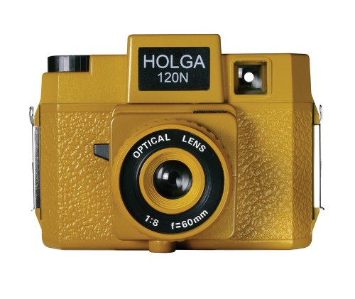 Holga Sunset Blvd Holgawood Collection Plastic Camera (Mustard)