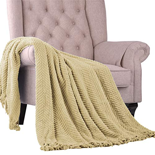 (Nader Knitted Tweed Amazing Soft Super Light Weight Extra Warm Cozy Bed Couch Chair Sofa Home Decorative Throw Blanket, 60