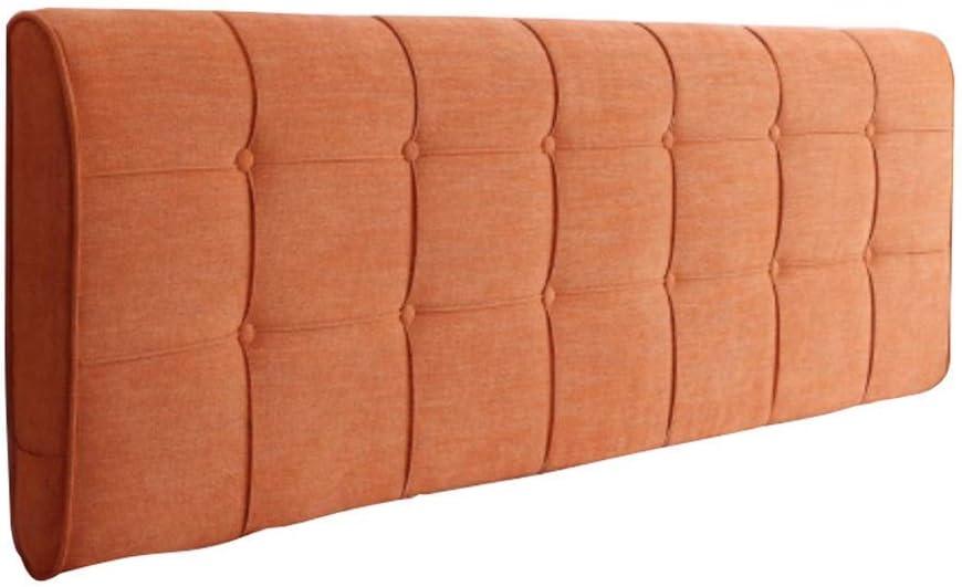 柔らかいベッドサイドの柔らかい背もたれ、多機能の洗えるウエストリーディングピローを休める純木の寝室の掛け布団枕6色、5サイズ(色:オレンジ、サイズ:100 * 58cm)
