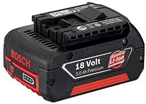 Bosch 2 607 336 236  - Batería enchufable GBA 18 V 3,0 Ah M-C - HD, 3 Ah, Li Ion (pack de 1)