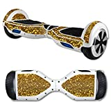 MightySkins Protective Vinyl Skin Decal for Hover Board Self Balancing Scooter mini 2 wheel x1 razor wrap cover Gold Glitter