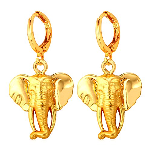 Elephant Gold Earrings - 5