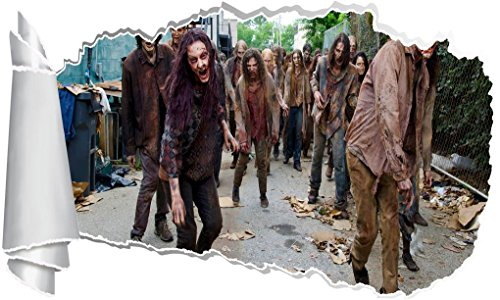 (The Walking Dead Zombies 3D Torn Hole Ripped Wall Sticker Decal Decor Art WT103, Regular)