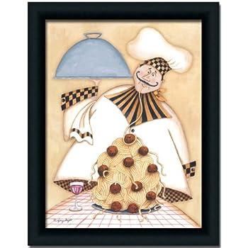 Amazon.com: Vineyard Fat Chef Kitchen Décor Art Print Picture ...
