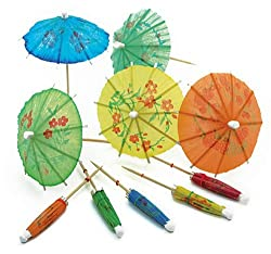 Norpro 188 24-pack Decorative Cocktail Umbrella Picks, Multicolored