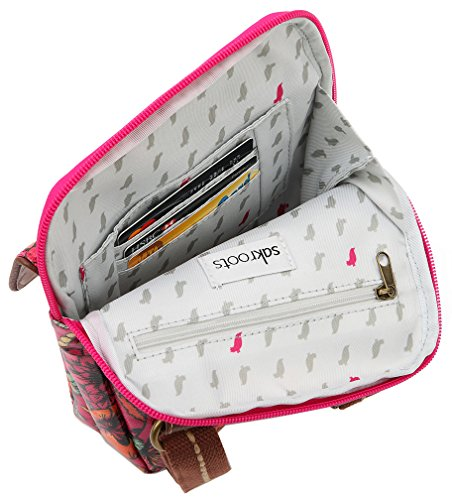 Flap Canvas Sakroots Ib Messenger Small Coated Wynnie Raspberry zEqFqZxX