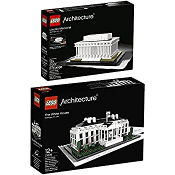 Lego Architecture Washington, D.C. Collection: The White House 21006 and Lincoln Memorial 21022