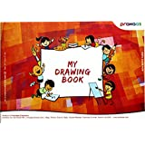 Red Colour Premium drawing book, awesome sketch pad that packs with butter paper for the best experience, 11.69 X 8.26 Inches sketch pad that is comfortable to use by Prahaas