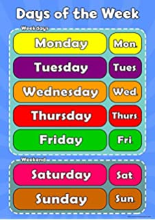picture regarding Printable Days of the Week Chart called Figures 1 toward 20 Childrens Wall Chart Useful Studying Toward