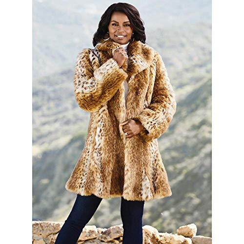 Luxe EY Luxury of Lynx Faux-Fur Coat ()
