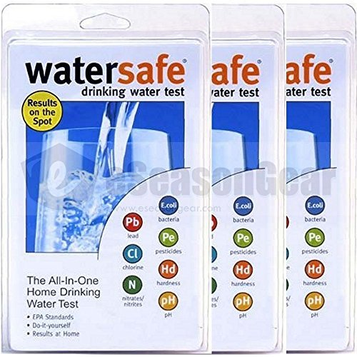 3x WaterSafe WS-425B City Home Tap Drinking Water Test Ki...