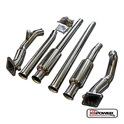 Amazon.com: XS-Power Audi 97-02 S4 B5 A6 C5 2.7L Bi-Turbo 97-04 Resonated Turbo Down Pipes Pipe: Automotive