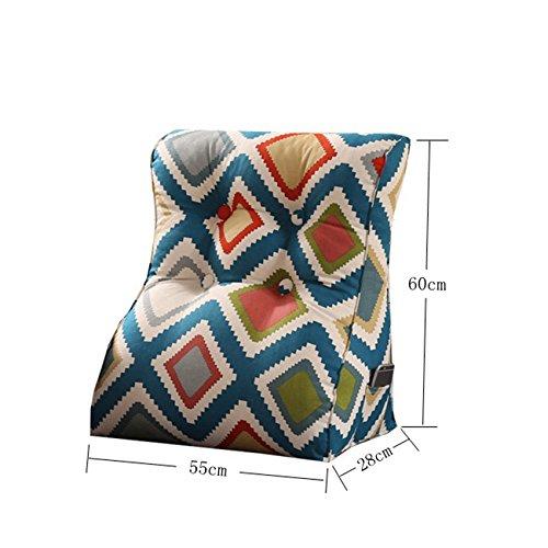 Creative Light-Kissen Cotton Canvas Sofa Dreieck Kissen     High Thickness Bett Lendenwirbel Rückenlehnen Pads   Abnehmbare Multipurpose ( größe   455526cm , stil   1 ) B07B7HZVG5 Kopfkissenbezüge dca7bb