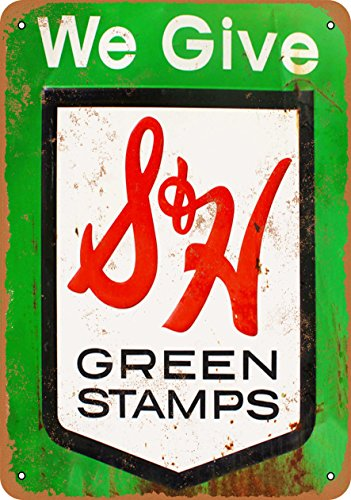 Wall-Color 9 x 12 Metal Sign - S&H Green Stamps - Vintage for sale  Delivered anywhere in USA