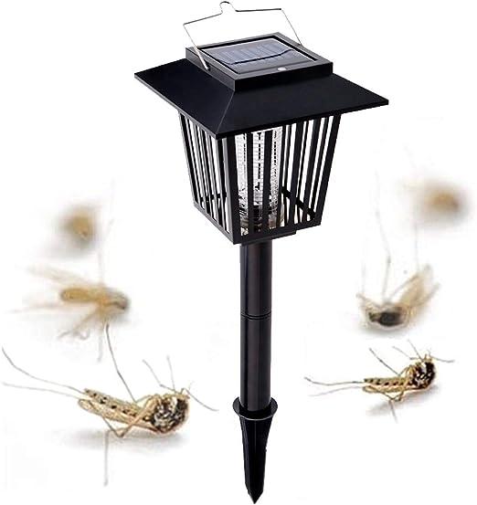 PRUNUS Luz exterior solar para el control de Mosquitos/Luz atrapa bichos - Función dual - Mata insectos
