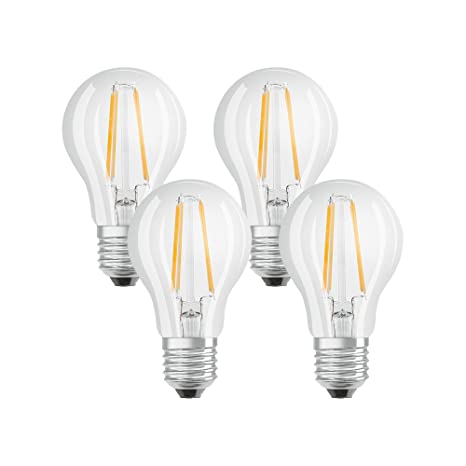 Lampadine A Led Luce Calda.Osram Lampadine Led Tutto Vetro A Filamento E27 60w Luce Calda 4 Unita Standard