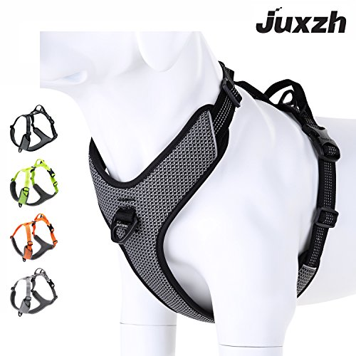 - juxzh Best New 2018 Dog Harness Reflective Lightweight No-Pull Adjustable Nylon Pet Training Harness with Soft Padded Pet Vest For Outdoor Small Medium Large Dog