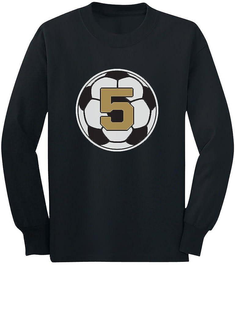 5 Year Old Fifth Birthday Gift Soccer Toddler//Kids Long Sleeve T-Shirt Tstars