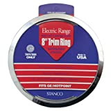 "STANCO METAL PROD GT-8 8"" Chrome Trim Ring Triple Plated Chrome Steel Range Trim Ring"