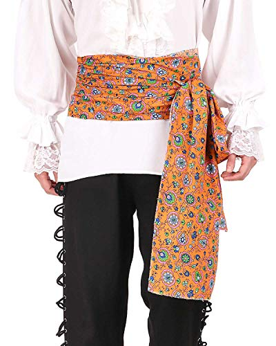 ThePirateDressing Pirate Medieval Renaissance Halloween Cosplay Costume Printed Large Sash (Print# 6)