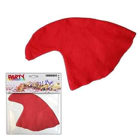 Berretto rosso da nano copricapo Carnevale cappello gnomo berretta da  folletto 96a2cbe7519e