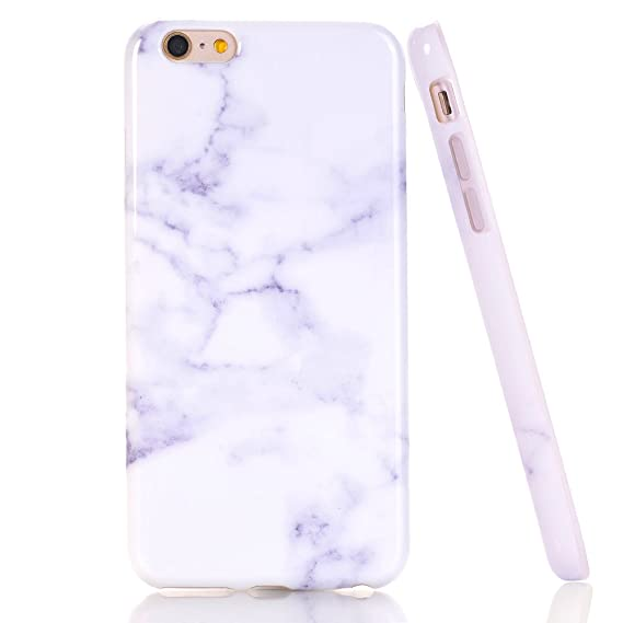 official photos ec3af 769a4 iPhone SE Case, iPhone 5 5S SE White Marble Design, BAISRKE Slim Flexible  Soft Silicone Bumper Shockproof Gel TPU Rubber Glossy Skin Cover Case for  ...
