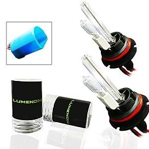 Lumenon HID Xenon Conversion Headlight Replacement Bulbs 1 pair (9007 HB5, 8000k Crystal Blue)