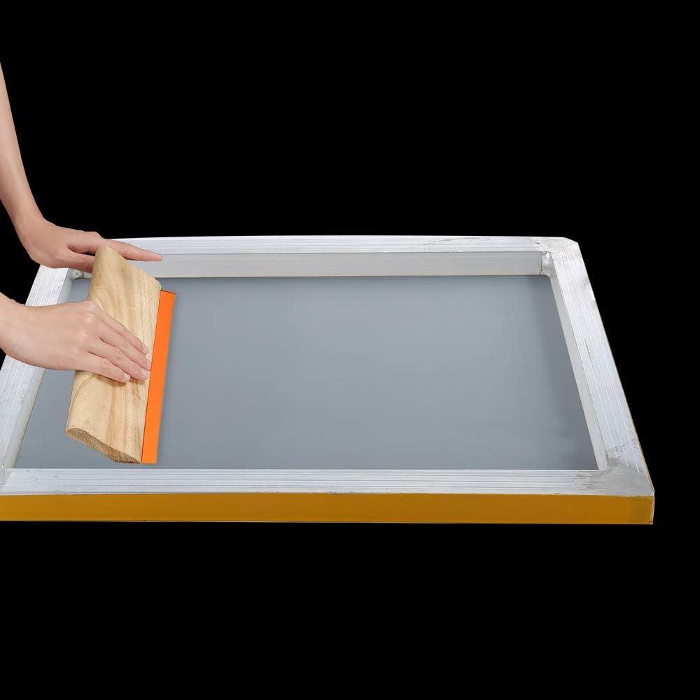 Tintenmesser und Maskenband. Siebdruck-Rakeln Tintenstrahl-Folie Caydo 23-teiliges Siebdruck-Starter-Set beinhaltet 3 verschiedene Gr/ö/ßen von Holz-Siebdruckrahmen mit Netz