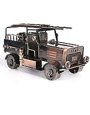 Vintage Modelos Coches Fuego Camión Hierro Metal 100% Artesanales Regalo Para Novio Niños Compañeros Amigos Casa Decoración Y Colección