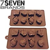 78Seven Silicone Molds 2 Set of Transportation Character Silicone Mold Trays. SUPER VALUE. Get It NOW!