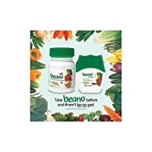 Beano Home & Away Combo Pack Food Enzyme Dietary Supplement - 120 Tablets & 12 Tablet Portable Pack