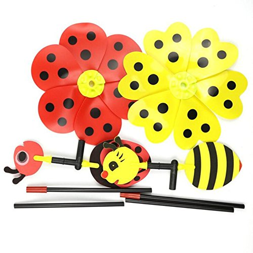 Bumble Bee Ladybug Windmill Wind Spinner Children Funny T...