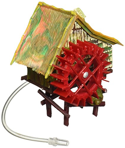 - Penn Plax Aerating Action Ornament, Rice Mill - Spinning Wheel - Small