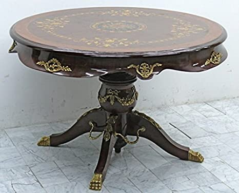 LouisXV Tavolo rotondo antico stile barocco rococò mota0 477so ...