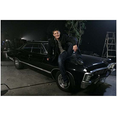 Sexy Dean Winchester in Blue Jeans Smiling and Sitting on Hood of His Car - 8x10 Photograph / Photo - HQ - Supernatural