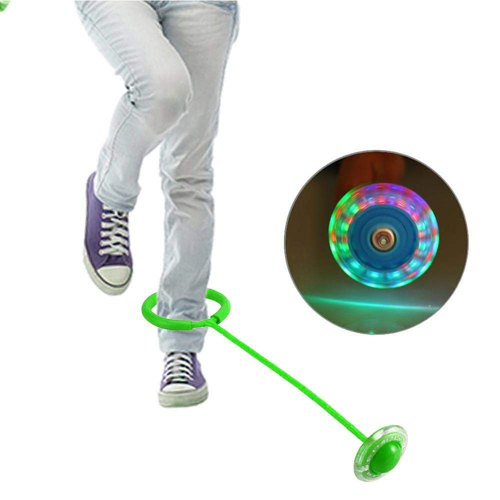 Colorful Dancing Fitness Ankle Skip Balls Outdoor Indoor Funny Toy for Children Adult Leegoal Flashing Jumping Ring